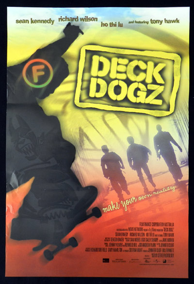 DECK DOGZ 2005 Skateboard TONY HAWK Australian Daybill Movie Poster
