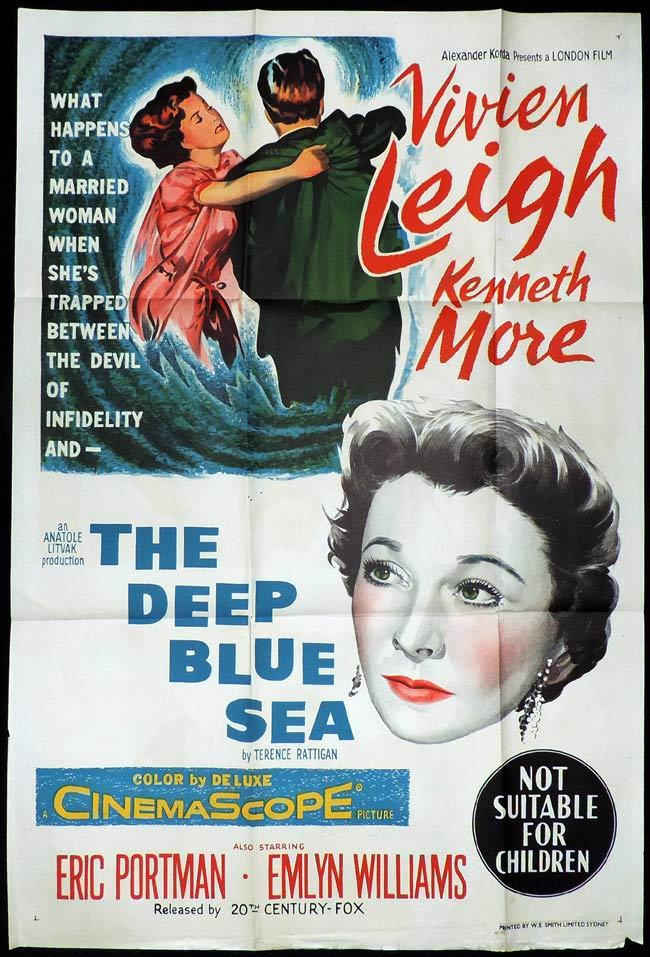 THE DEEP BLUE SEA One Sheet Movie Poster Vivien Leigh