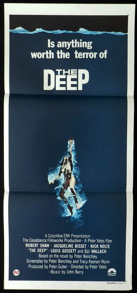 THE DEEP Original Daybill Movie Poster Jacqueline Bisset Robert Shaw