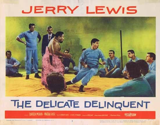 DELICATE DELINQUENT 1957 Jerry Lewis ORIGINAL US Lobby card 2