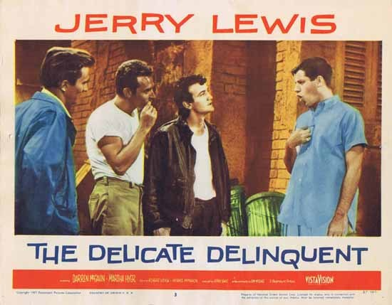 DELICATE DELINQUENT 1957 Jerry Lewis ORIGINAL US Lobby card 3