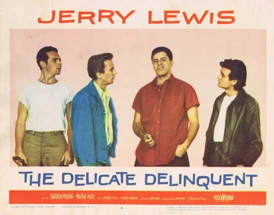 DELICATE DELINQUENT 1957 Jerry Lewis ORIGINAL US Lobby card 6