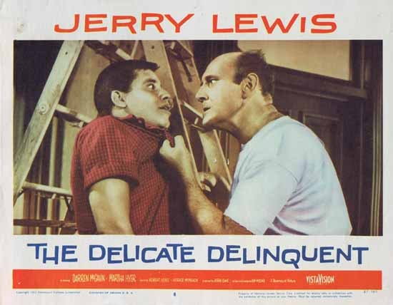 DELICATE DELINQUENT 1957 Jerry Lewis ORIGINAL US Lobby card 8