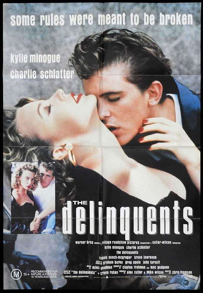 THE DELINQUENTS Original One sheet Movie Poster Sexy Kylie Minogue