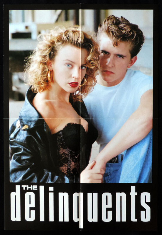 THE DELINQUENTS Sexy Kylie Minogue VINTAGE Original TEASER Movie Poster