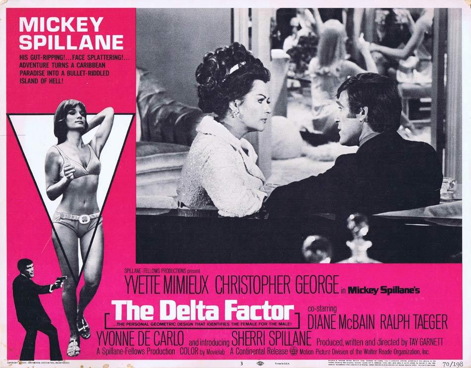 THE DELTA FACTOR Lobby Card 3 Yvette Mimieux Christopher George Mickey Spillane