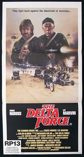 THE DELTA FORCE Original daybill Movie poster CHUCK NORRIS Lee Marvin