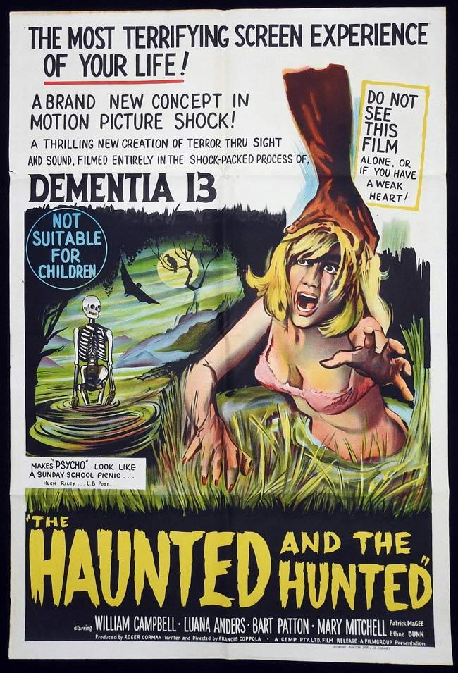 DEMENTIA 13 One sheet Movie Poster Haunted and the Hunted