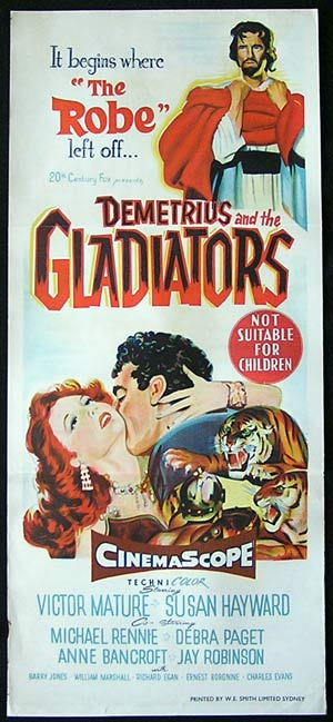 DEMETRIUS AND THE GLADIATOR '54-Susan Hayward poster