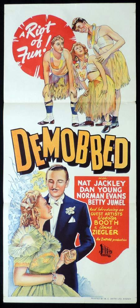 DEMOBBED Original Daybill Movie Poster Nat Jackley Norman Evans