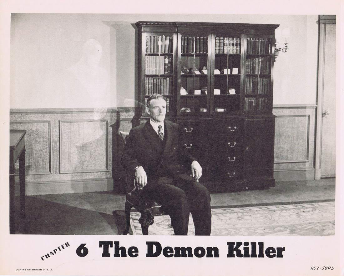 THE PURPLE MONSTER STRIKES Lobby Card THE DEMON KILLER 1957r Republic Serial