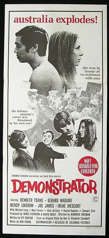 DEMONSTRATOR '71 Australian Political Film RARE poster