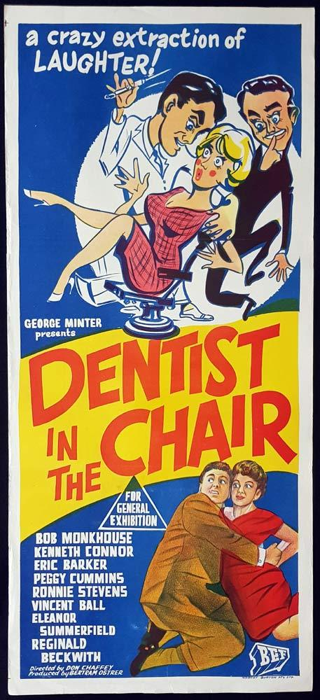 DENTIST IN THE CHAIR Original Daybill Movie Poster Bob Monkhouse Peggy Cummins Vet