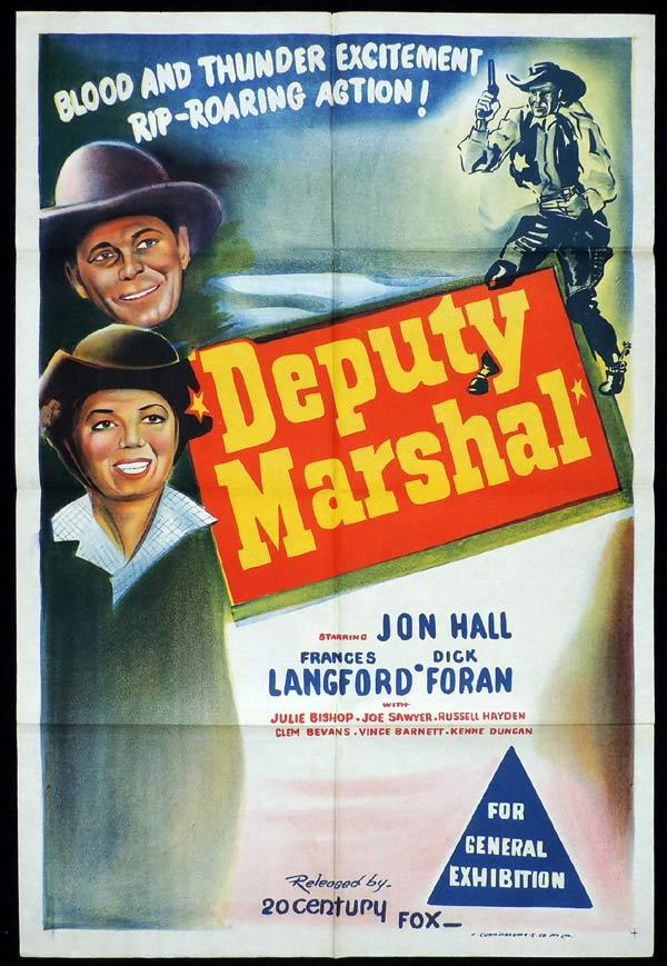 DEPUTY MARSHAL One Sheet Movie Poster John Hall Dick Foran Frances Langford