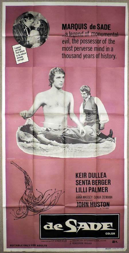 DE SADE Original 3 Sheet Movie Poster Keir Dullea Senta Berger