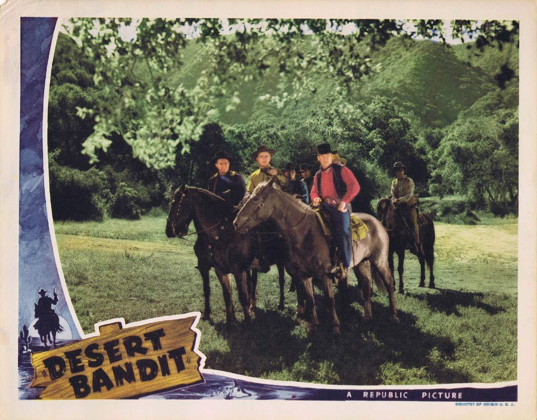 "DESERT BANDIT Original Lobby Card Don ""Red"" Barry Lynn Merrick William Haade 1941"