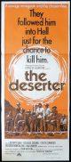 THE DESERTER Daybill Movie poster Spaghetti Western CHUCK CONNORS Fehmiu