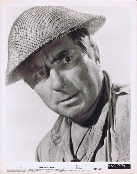THE DESERT RATS 1953 Movie Still Photo 14 Robert Newton portrait