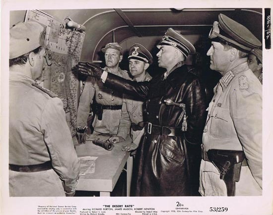 THE DESERT RATS 1953 Movie Still Photo 18 James Mason Rommel plans attack