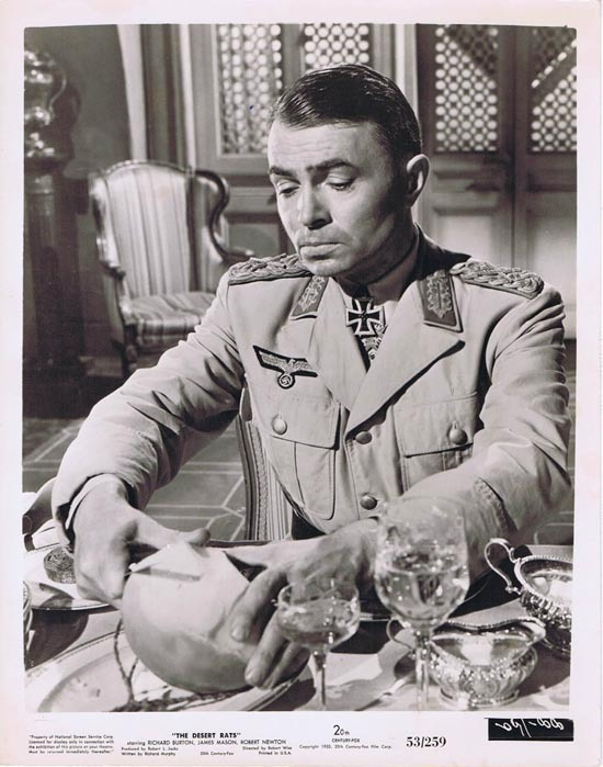 THE DESERT RATS 1953 Movie Still Photo 2 James Mason as Erwin von Rommel