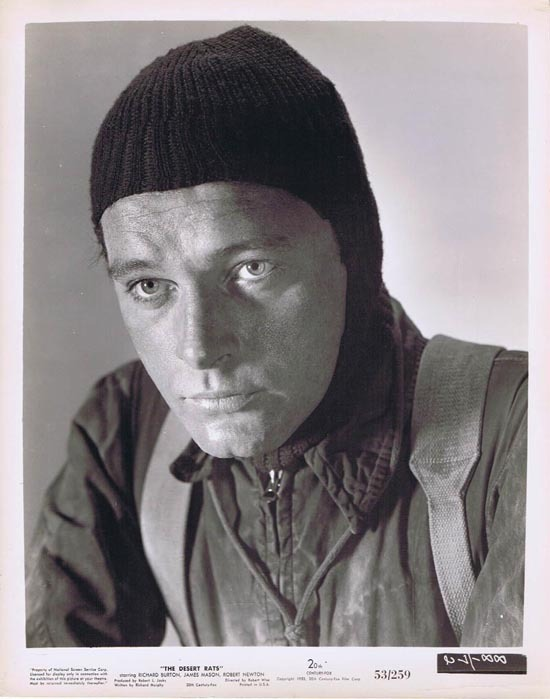 THE DESERT RATS 1953 Movie Still Photo 20 Richard Burton Portrait