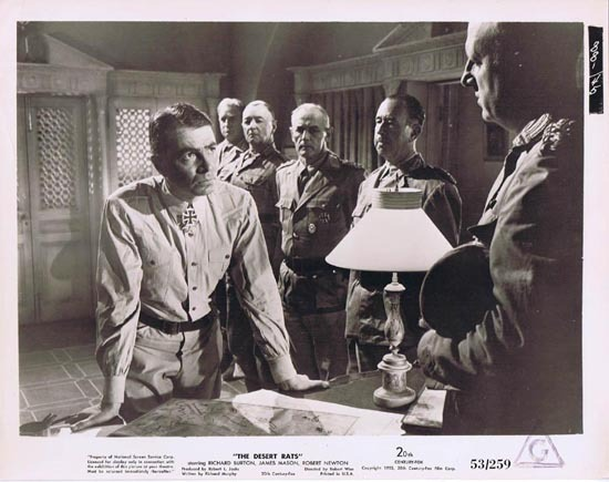 THE DESERT RATS 1953 Movie Still Photo 25 James Mason Rommel plots attack