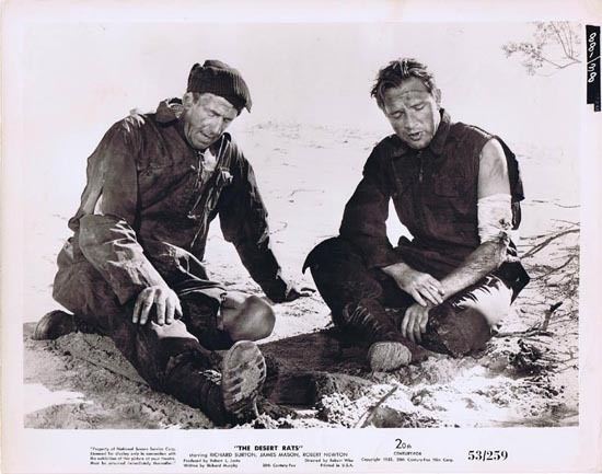 THE DESERT RATS 1953 Movie Still Photo 4 Wounded in Battle