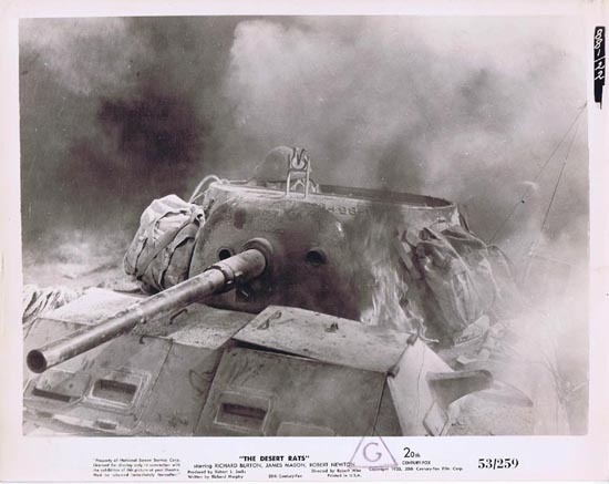 THE DESERT RATS 1953 Movie Still Photo 5 Tank