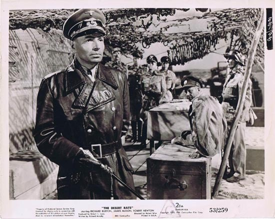 THE DESERT RATS 1953 Movie Still Photo 9 James Mason as Rommel