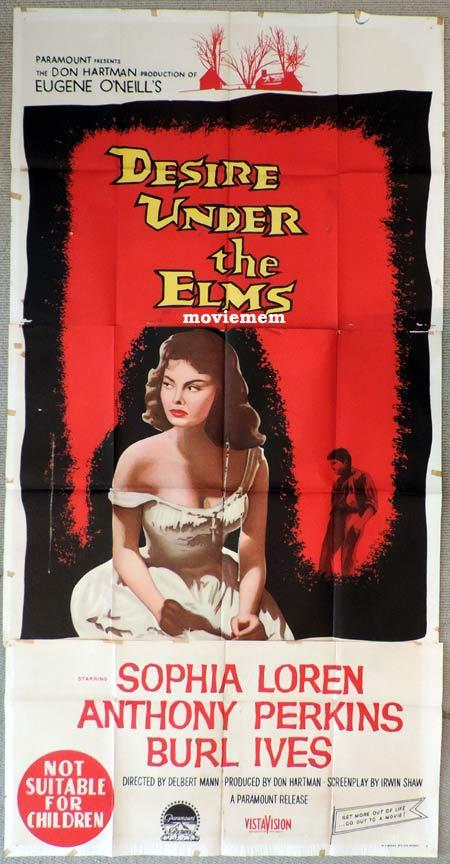 DESIRE UNDER THE ELMS Original 3 Sheet Movie Poster RAF Cliff Robertson