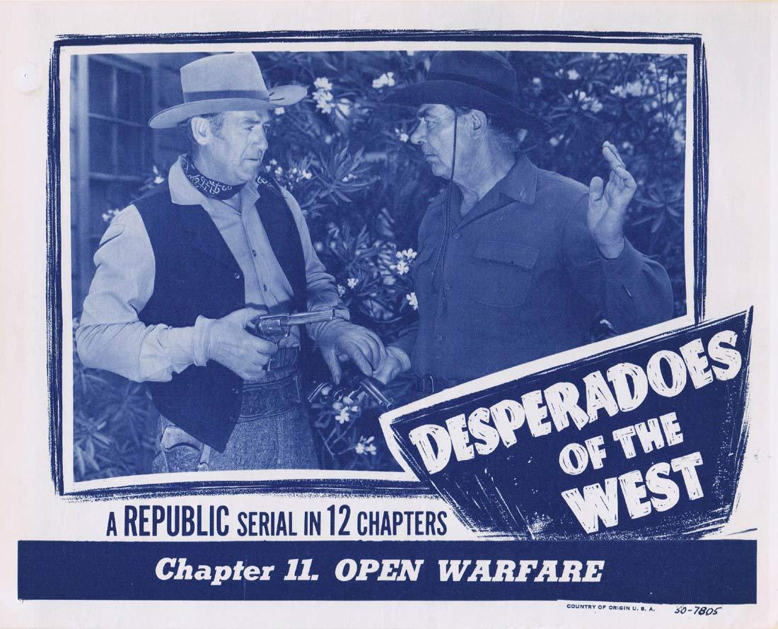 DESPERADOS OF THE WEST Original Lobby Card Richard Powers Judy Clark Roy Barcroft