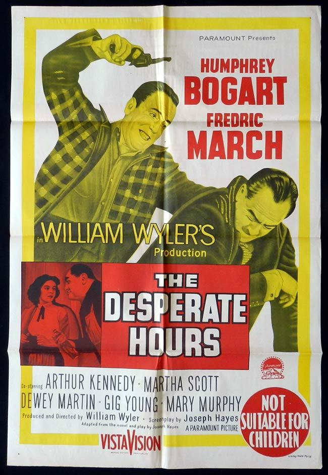 THE DESPERATE HOURS One sheet Movie poster Humphrey Bogart