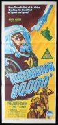DESTINATION 60000 Original Daybill Movie Poster PRESTON FOSTER Sci Fi Richardson Studio