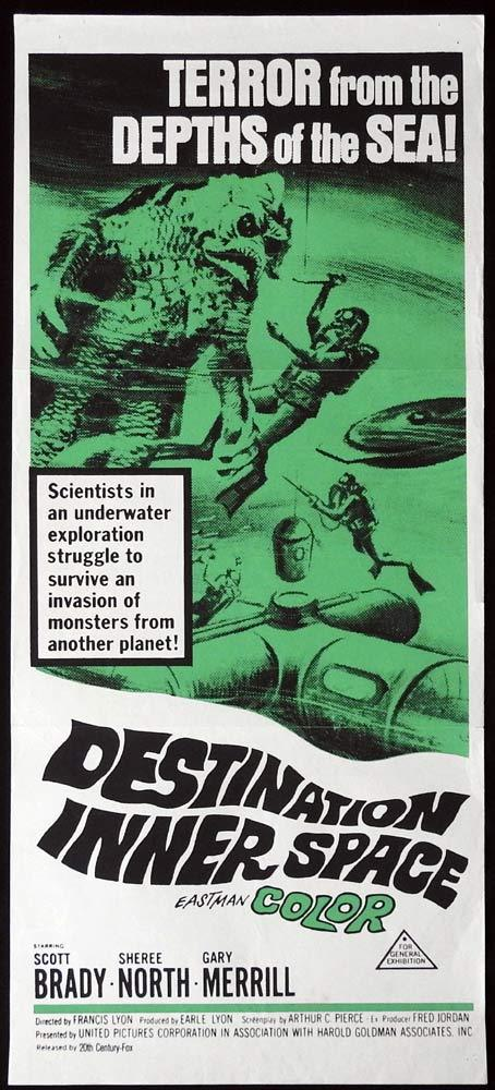 DESTINATION INNER SPACE Daybill Movie Poster Scott Brady