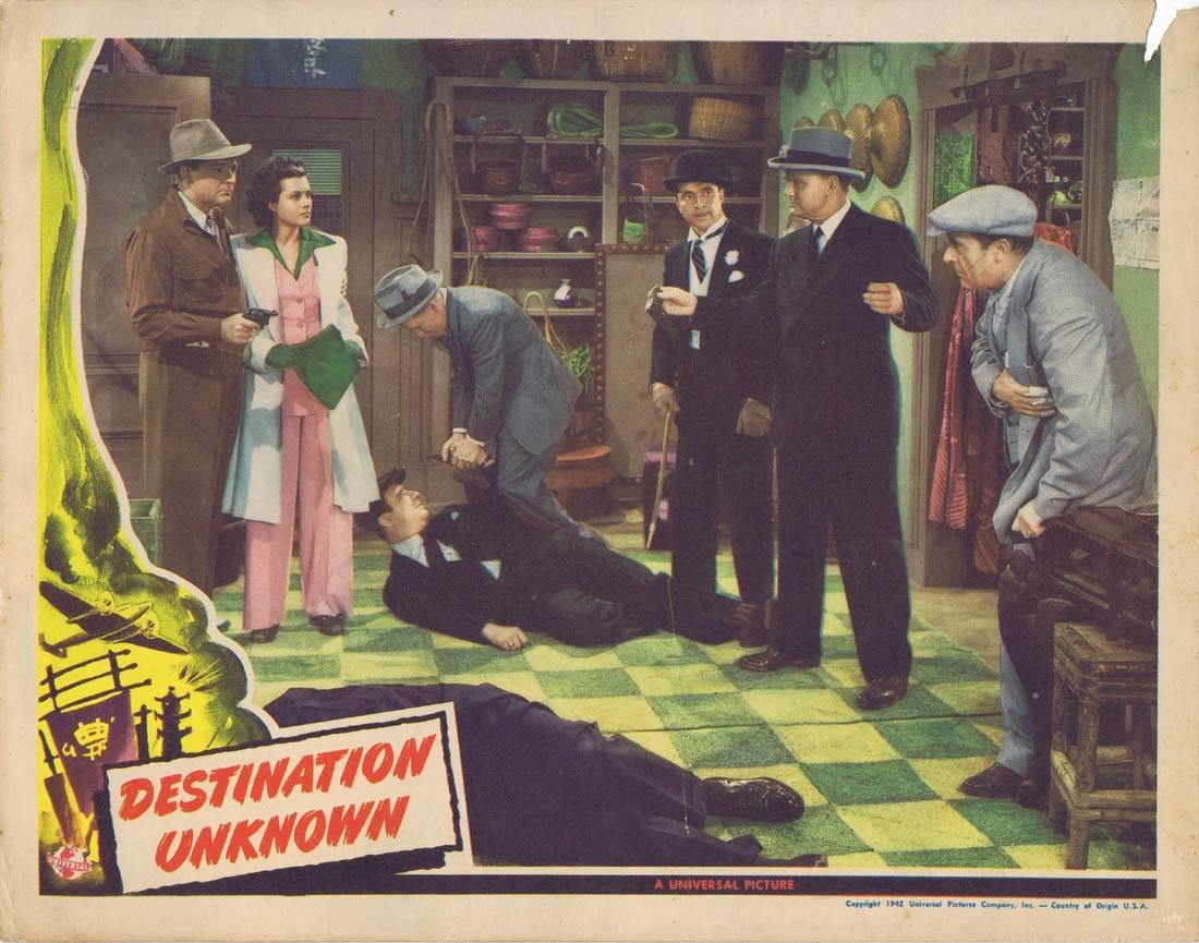 DESTINATION UNKNOWN Lobby Card 2 William Gargan Irene Hervey Sam Levene