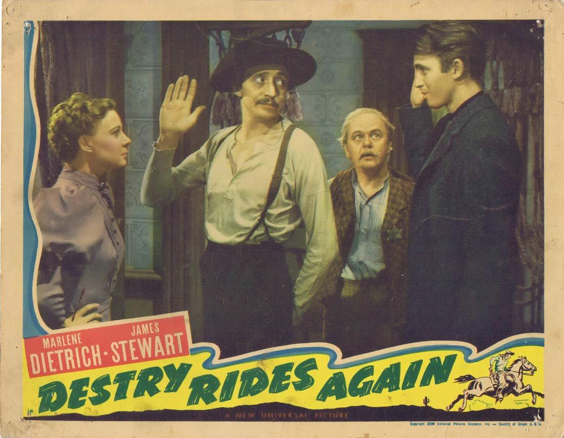 DESTRY RIDES AGAIN Vintage Movie Lobby Card Marlene Dietrich James Stewart Mischa Auer