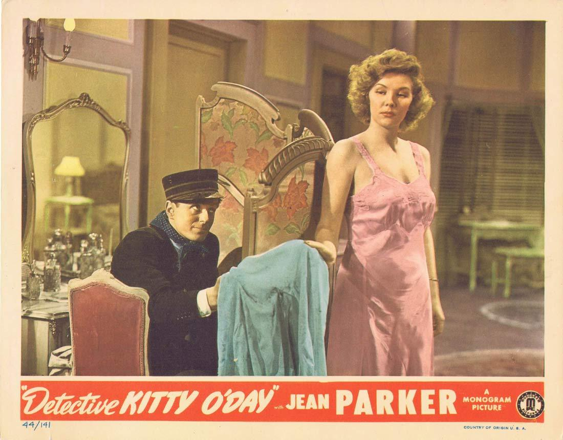 DETECTIVE KITTY O'DAY Original Lobby Card Jean Parker Peter Cookson Tim Ryan 1944