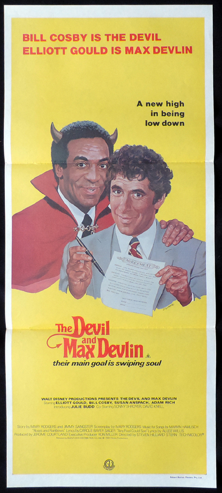 THE DEVIL AND MAX DEVLIN Original Daybill Movie poster Bill Cosby Elliott Gould