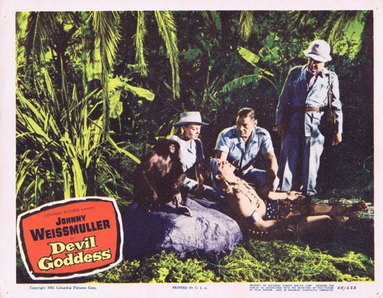 DEVIL GODDESS 1955 Lobby Card 3 Jungle Jim Johnny Weissmuller