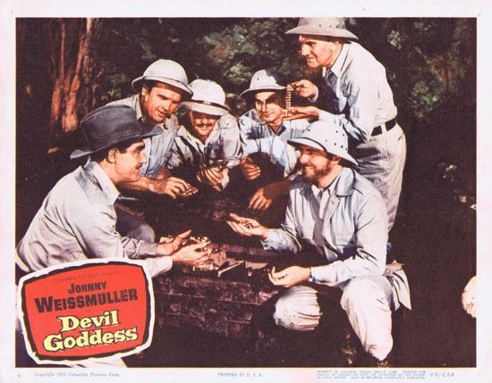 DEVIL GODDESS 1955 Lobby Card 4 Jungle Jim Johnny Weissmuller