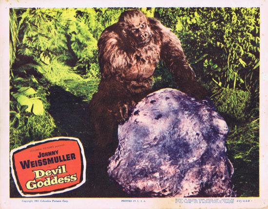 DEVIL GODDESS 1955 Lobby Card 5 Jungle Jim Johnny Weissmuller