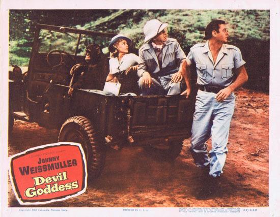 DEVIL GODDESS 1955 Lobby Card 8 Jungle Jim Johnny Weissmuller