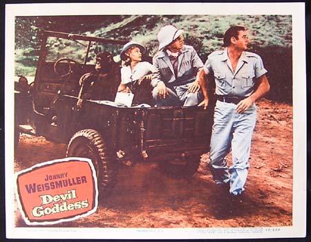 DEVIL GODDESS '55-Johnny Weissmuller as Jungle Jim ORIGINAL US Lobby card