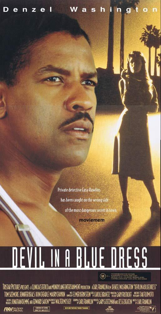 DEVIL IN A BLUE DRESS Original Daybill Movie poster Denzel Washington