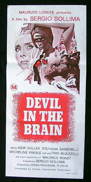 DEVIL IN THE BRAIN Original Daybill Movie Poster GIALLO Stefania Sandrelli Keir Dullea