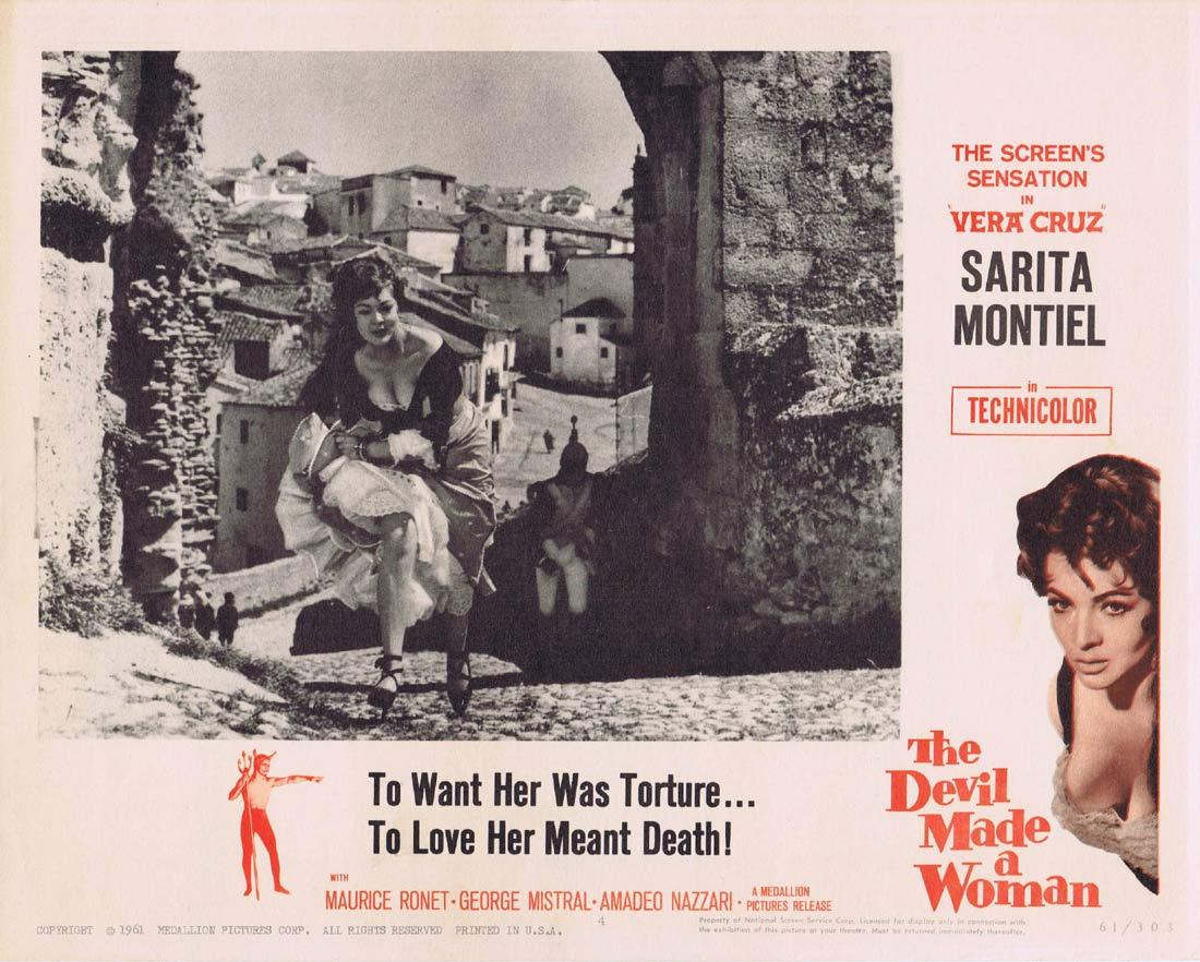 THE DEVIL MADE A WOMAN Lobby Card 4 Carmen la de Ronda Sarita Montiel