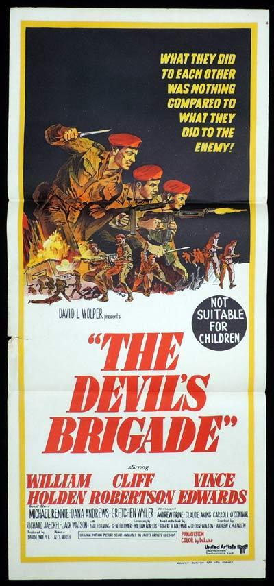 THE DEVIL'S BRIGADE Daybill Movie Poster William Holden