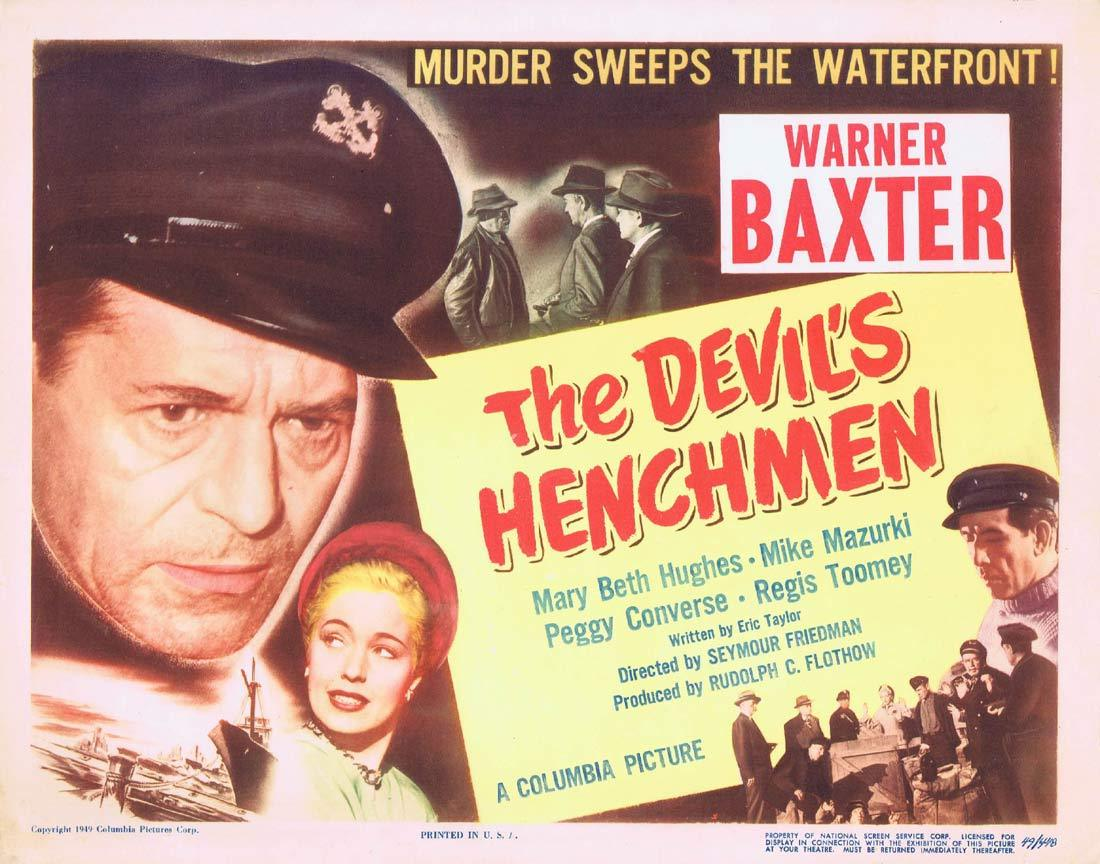 THE DEVIL'S HENCHMAN Title Lobby Card Warner Baxter Mary Beth Hughes
