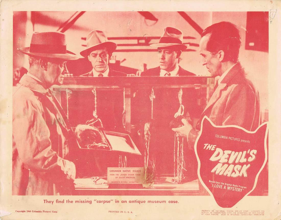 THE DEVIL'S MASK Lobby Card Anita Louise Jim Bannon Michael Duane