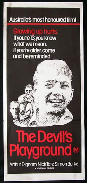 THE DEVIL'S PLAYGROUND Daybill Movie Poster 1976 Fred Schepisi